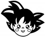 goku kawaii dessin à colorier