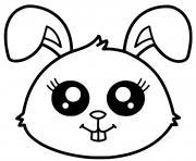 lapin kawaii dessin à colorier