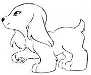 lego friends chien 2 dessin à colorier