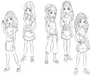 Coloriage lego friends groupe