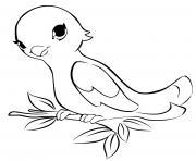 lego friends oiseau dessin à colorier