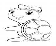 lego friends tortue dessin à colorier
