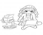 lego friends olivia 2 dessin à colorier