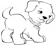 Coloriage lego friends chien