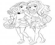 lego friends journee shopping dessin à colorier