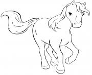 Coloriage lego friends cheval