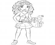 Coloriage lego friends andrea