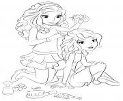 coloriage lego friends coiffure
