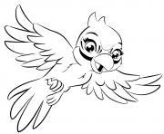 lego friends perroquet dessin à colorier