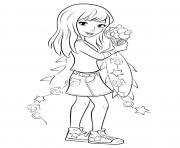 Coloriage lego friends stephanie