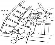 pirate garcon bateau dessin à colorier