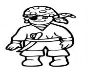 pirate garcon bandana dessin à colorier