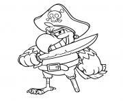 sourire sinistre perroquet pirate dessin à colorier