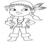 pirate fille simple dessin à colorier