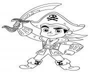 pirate garcon jack dessin à colorier