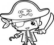pirate garcon simple dessin à colorier