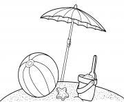 jeux de sable plage dessin à colorier