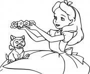 Coloriage le chat fouin de alice dessin
