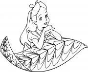 Coloriage princesse alice surprise dessin