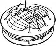 euro 2020 2021 saint petersbourg stadium dessin à colorier