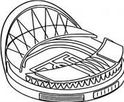 euro 2020 2021 wembley stadium londres dessin à colorier