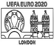 euro 2020 2021 logo londres dessin à colorier