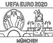euro 2020 2021 logo munich dessin à colorier