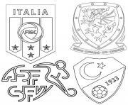euro 2020 2021 groupe a italie suisse turquie pays de galles dessin à colorier