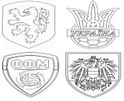 groupe c pays bas ukraine autriche macedoine du nord dessin à colorier