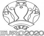 euro 2020 logo foot 2021 dessin à colorier