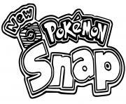 pokemon snap logo pokemon snap dessin à colorier