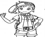 photographe fille pokemon snap dessin à colorier