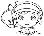 heros fille pokemon snap dessin à colorier