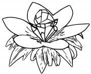 fleur de crystal pokemon snap dessin à colorier