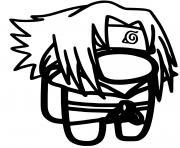 among us sasuke manga naruto dessin à colorier
