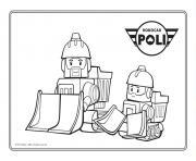 camion de construction robocar poli dessin à colorier