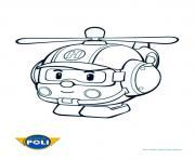 helicoptere robocar poli dessin à colorier