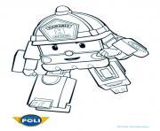 rapide robocar poli camion de pompier dessin à colorier