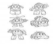 robocar poli personnages dessin à colorier