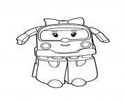 ambre la petite ambulance robocar poli dessin à colorier