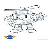 helicoptere robocar poli transformation dessin à colorier