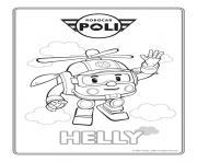 helly robocar poli helicoptere dessin à colorier