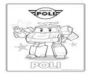 poli police robocar dessin à colorier