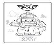roy robocar poli pompier dessin à colorier