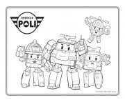 personnages robocar poli dessin à colorier