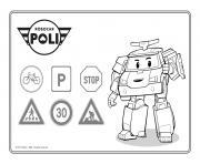 signalisation panneaux de securite routiere dessin à colorier