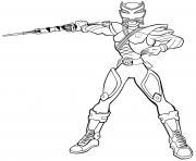 power rangers super ninja steel dessin à colorier