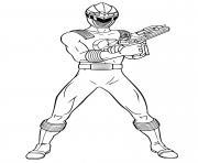power rangers laser shot dessin à colorier