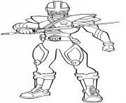 power rangers samurai dessin à colorier