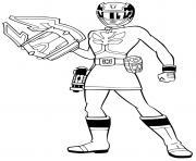 power rangers laser space dessin à colorier